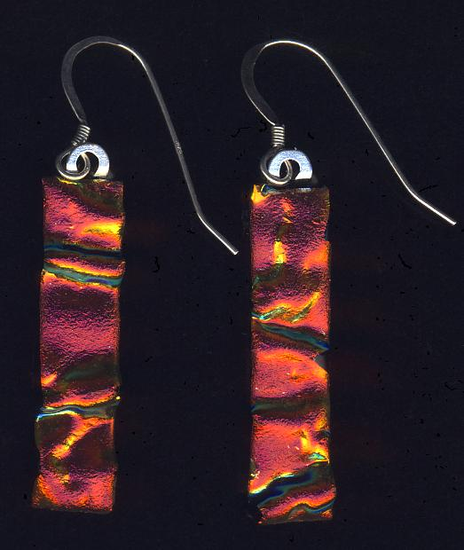 deep orange earrings